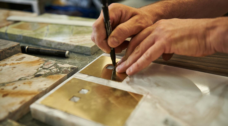 Preparazione del marmo per il taglio